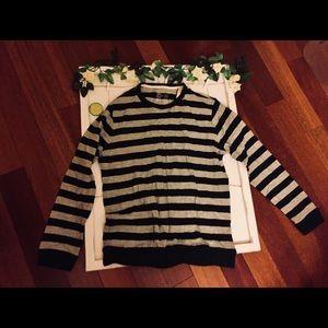 Muji gray/navy long-sleeve sweater - NWT